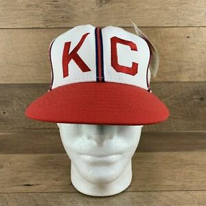 Official Negro League NLBM 1942 Kansas City Monarchs Fitted Baseball Hat Cap