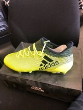 Adidas X 17.1 SG *Pro Version* Solar Yellow/Legend Ink S82314 UK 8 1/2 FOOTBALL