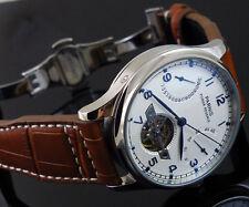 Parnis Luxury Power Reserve Chronometer 43mm mens deployant date watch 1242