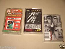BAD RELIGION Generator / Gray Face / Loosing My Love - set of 3 cassette tape