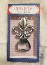 Silver French Fleur de lis Bottle Opener Parisian or New Orleans Saints Wedding