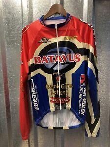 Craft Bravactus Red Blue Long Sleeve Cycling Full Zip Jacket Size Medium -Large