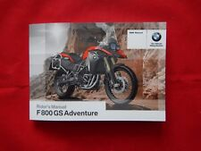 GENUINE 2013-ON BMW F800GS F800 GS ADVENTURE RIDERS OWNERS MANUAL 01 41 8 550931