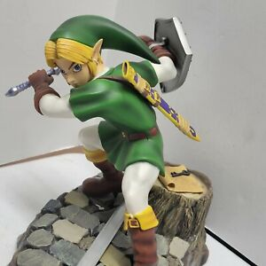 Rare First 4 Figures Zelda Ocarina Of Time Adult Link Green F4F Statue *Read