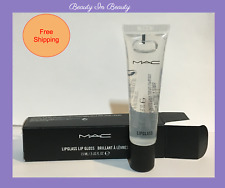 M.A.C. LIPGLASS Lip Gloss Clear 0.5oz/15ml Full Size NIB