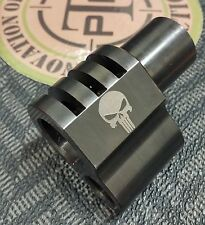 "1911 ""Punisher Logo LASER ETCHED"" Compensator .45acp SS Black Nitride finish"