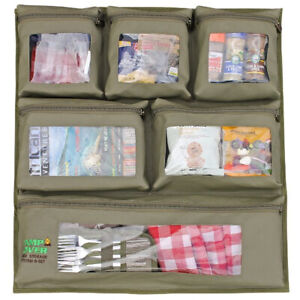 Camp Cover Door Storage System - 6 Pocket - Khaki Ripstop - CCH005-B