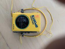 Sony WM-35 Sports Walkman Casette Player Yellow New Top Rare Vintage