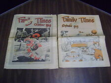 1940's FAMILY TIMES NEWSPAPER LOT OF 2 SEPT & OCT 1949