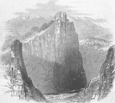 INDIA. Ft of Kote Kangra, from top South End Rampart, antique print, 1846