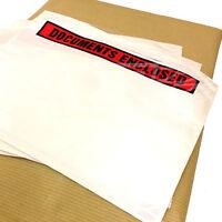 DOCUMENT ENCLOSED ENVELOPES PRINTED A6 (160mm x 110mm) PARCELS POSTAL WALLETS