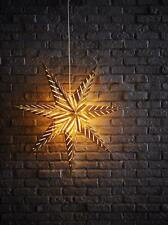 Star Shaped Lantern 70cm Strala with 3 m cord Gold With Cut Out Chevrons