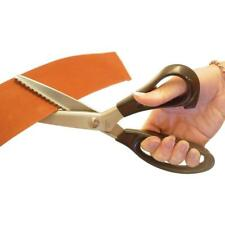 Anti Fray Pinking Shears - Serrated Zig Zag Craft Scissors - Carbon Steel