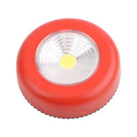COB LED Night Light Round Cordless Stick to Wall Cabinet Lamp Battery Powered