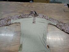 USMC Defender M Frog Combat Ensemble DESERT MARPAT Shirt Size M-R