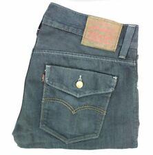 Levis 514 mens size 33x32 denim blue jeans straight fit dirty wash  A66-4