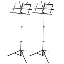 2 Pack Folding Sheet Music Stand Score Note Holder Mount Tripod Carrying Gig Bag