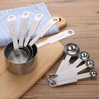 Kitchen Set Cups Measuring Stainless Steel Spoons Baking Piece Tools And Cooking