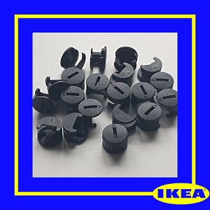 117434 X 10 IKEA Plastic Cam Nuts Fixings BLACK - 100% Genuine