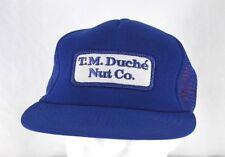 T.M. Duche' Nut Co Blue Trucker StyleBaseball Cap Snapback