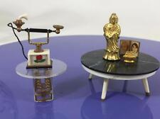 Ideal Vtg Petite Princess Doll House Lot 6 Telephone Tables Buddha Lighter Photo