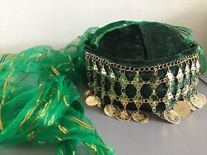 Green Henna Night Hat, Women's Fes/Fez, Traditional, Turkish, Oriental, Costume