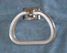 Vintage chrome towel ring Kitchen Bathroom camper Motel /man cave/  Industrial