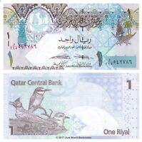 Qatar 1 Riyal ND 2015 P-28b Banknotes UNC