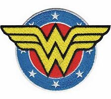 "Wonder Woman Shield 3"" Tall Embroidered Costume Patch"