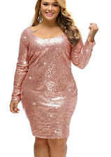 Pale Pink SEQUINED COCKTAIL DRESS/SEQUIN Stretch/DRAG QUEEN/ Plus 3XL