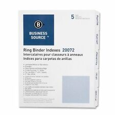 Business Source Laminated Write-On Erasable Index Tabs 5 Tabs 3-Holed 20072