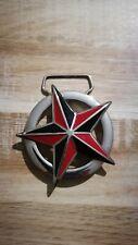 Boucle Nautique Étoile en Rouge Noir Boucle de Ceinture