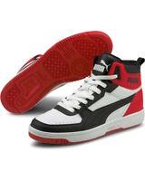 Puma Scarpe Sneakers Rebound pelle JOY Uomo Bianco Caviglia alta Basket