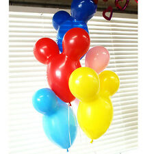 50Pcs Colorful Mickey Mouse Balloon Wedding Party Decoration Latex Balloons LAUS