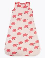Brand New M&S Baby Girls Sleeping Bag 1Tog Organic Cotton Pink Elephant Ex RRP18
