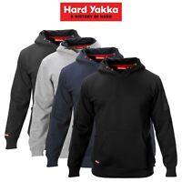 Mens Hard Yakka Brushed Fleece Hoodie Jumper Winter Workwear Safety Work Y19326