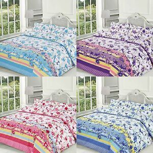 BLOSSOM DUVET COVER SETS QUILT COVER WITH PILLOW CASES ALL SIZES