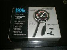 ACTRON / KLM Equipment Vacuum Pressure Gauge & Fuel Pump Tester T-541