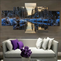 WOODED FOREST CALM LANDSCAPE SCENE MODERN CANVAS PRINT PICTURE UPGRADE 120x56cm