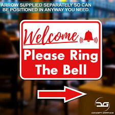 Please Ring The Bell Front Door Shop Business Window Wall Vinyl Sticker Sign
