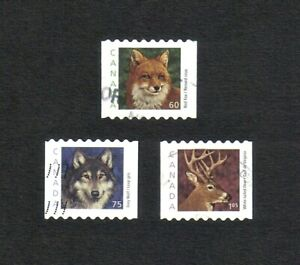 Canada 2000 Wildlife complete set of 3 values (SG 2026-2028) used