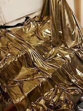 "1M black / gold  WET LOOK  STRECH LAME MICRO FOIL LAME  DISCO FABRIC 58"" WIDE"