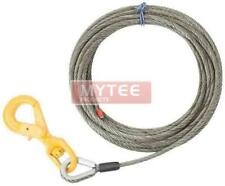 """3/8"""" x 75' Winch Cable Steel Core Rope Wrecker Tow Truck Rollback Self Locking"""