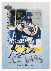 1995/96 Be A Player Auto Jamie Macoun Toronto Maple Leafs
