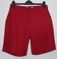 New John Lewis Red  100% Linen Summer Shorts - Size 10 - 18