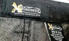 Xelement Mens Advanced Biker Pants Size S 36-32 Black Spandex In Crotch