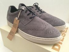 DIESEL PRIMETIVERS PRIME TIME GREY WINGTIP FASHION SNEAKERS SIZE US 12 EU 45