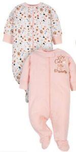 New Gerber Baby Girl Organic Sleep 'N Play Pajamas 2-Piece 0-3 3-6 Month