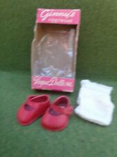 Vintage Vogue Ginny Doll Red Vinyl Shoes & Socks in Original Box