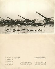 ON FRONT FRANCE RAILWAY GUNS ARTILLERY WWI REAL PHOTO POSTCARD ANTIQUE RPPC